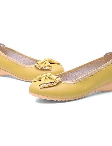 tac¨®n 5 Rojo negro De us6 Uk5 Cn36 Yellow Amarillo Eu38 Redonda Cn38 planos Zapatos casual 5 punta Yyz Plano Uk4 Eu36 Mujer us7 Naranja semicuero Zq Azul Yellow 6I1xqwA6