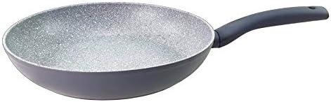 mit Marmor Granit Keramik Antihaftbeschichtung Pfannen Bratpfanne Bratpfannen auch Induktionsherd geeignet Grau 24,26 und 28 cm Pfanne SFL Granit Pfannenset 3-TLG