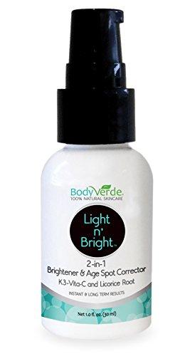 BodyVerde Light N' Bright 2-in-1 Skin Care Creme, 1 Ounce