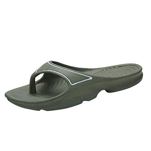 - Non-Slip Flip Flops Women & Men,Mosunx Athletic Couple Unisex Breathable Thick Bottom Soft Thong Slippers T Strap Beach Walking Slipper (8 M US, Green)