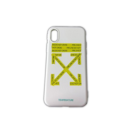 Logo Cell Phone - Off White OW Spoof Stickers Logo Mobile Phone Case for Apple iPhone 10 X Generation White Color