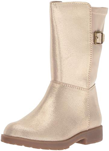 Stride Rite Willow Girl's Lightweight Riding Boot Fashion, Gold, 10 M US Toddler