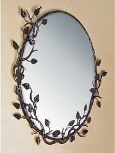 Aspen Oval Mirror Finish: Black