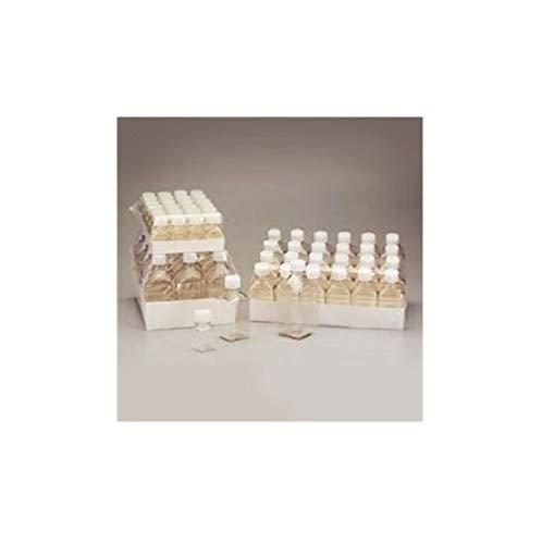 Petg Square Media Bottle - Nalgene PETG Sterile Graduated Square Media Bottle with HDPE Cap, 60ml Capacity (Case of 200)