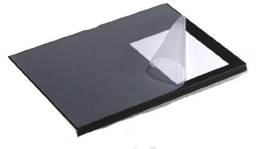 Durable 7293/01 - Sottomano con proteggibordi, 5 pz, colore: nero 729301
