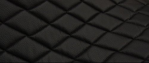 BLACK QUILTED FABRIC BACKING UPHOLSTERY product image