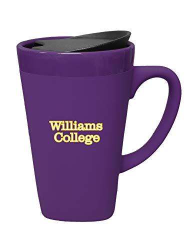 The Fanatic Group Williams College Ceramic Mug Swivel Lid, Design-1 - Purple
