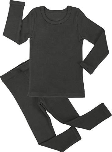 (Baby Boys Girls Pajama Set Kids Toddler Snug fit Cotton Sleepwear (A-Charcoal Large(100)/3T))