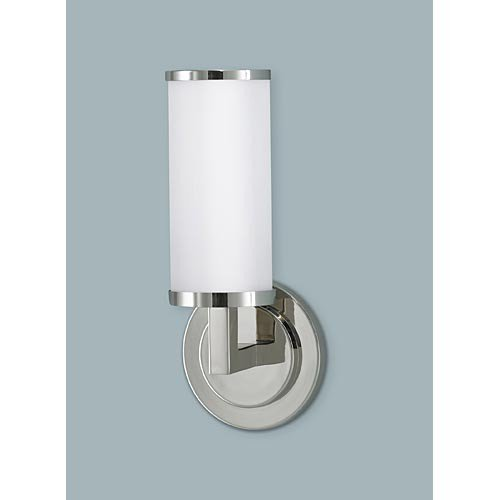 Murray Feiss MF WB1323 Industrial Revolution 1 Light Wall Sconce, Polished Nickel
