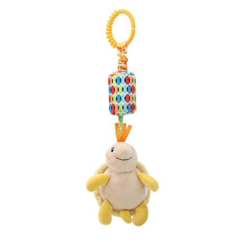 Amazingdeal Infant Plush Baby Toy Bed Wind Chimes Hanging Rattles Toys Doll (Tortoise)