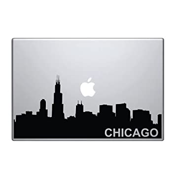 Amazoncom Chicago Skyline Macbook Pro Vinyl Decal Computers - Custom vinyl decals chicago