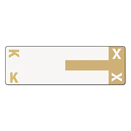 (Smead 67162 Alpha-Z Color-Coded First Letter Name Labels K & X Light Brown 100/Pack)