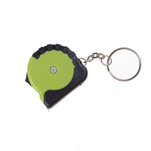 Price comparison product image S&M TREADE-Portable Key Chain 1m Retractable Ruler Centimeter/Inch Tape Measure KZ