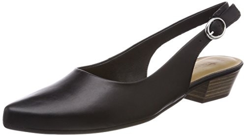 Rosa Rose Black Sandals Tamaris Comb 3 WoMen Sling Black UK Back Leather 29400 Metl wxqXYXSA