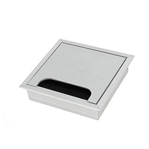 uxcell Computer Desk 120mmx120mm Aluminum Square Shape Grommet Wire Cable Hole Cover a16122600ux0210