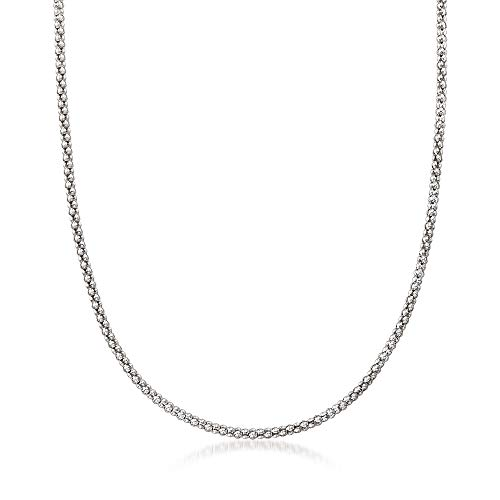 Ross-Simons Italian Popcorn Chain in Sterling Silver