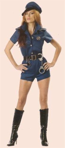 Sexy Cop Lady Adult Costume Size Medium