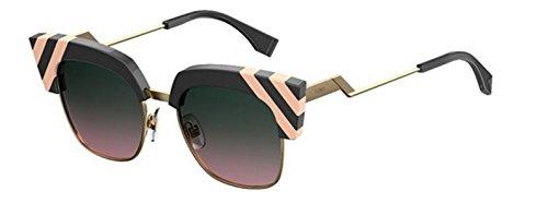 New Fendi WAVES FF 0241/S KB7/JP dark grey pink/green pink shaded Sunglasses
