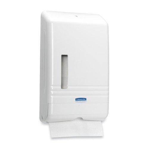 Kimberly-Clark SLIMFOLD Folded Towel Dispenser - 14.3'' x 8.9'' x 2.8'' - White