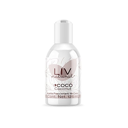 Aceite Fraccionado de Coco LIV natural Frasco de 125 ml