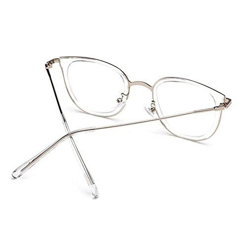 Metallo Anti Trasparente fatica Occhiali Telaio Uomini Bianca Per E Donne Vintage Uv400 Hzjundasi Bicchieri Lente Moda YbymfI7gv6