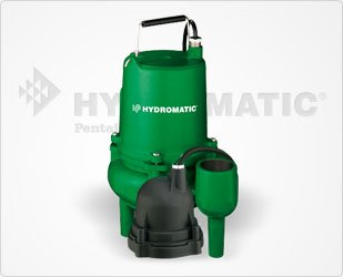 - Hydromatic SP40M1 4/10 HP, 1 Phase, 115 Volt Cast Iron Submersible Sewage Ejector Pump (Manual), 10' Cord