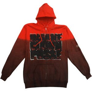 Insane Clown Posse Hooded Sweatshirts Zippered Band X Large At