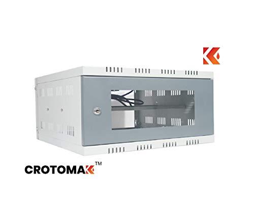 Crotomak® 3U+ Rack – DVR Rack/CCTV Rack/NVR Rack/Server Rack/Network Rack with 3 Power Socket Plug – Transparent Glass Door – Metal Cabinet Box – Wall Mount (Size 4: 40cm X 45cm X 20cm) Price & Reviews