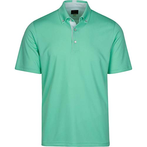 Greg Norman Mens Weatherknit Seaside Polo Green M