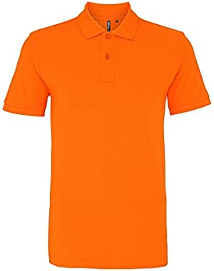 Asquith & Fox Mens Plain Short Sleeve Polo Shirt