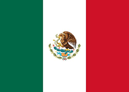 Mexico - World Country National Flags - Rectangle Refrigerator (Diversity Magnet)