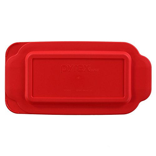 Pyrex Red 1.5 Quart Loaf Pan Lid Model 213 LID (1.5 Quart Loaf Pan)