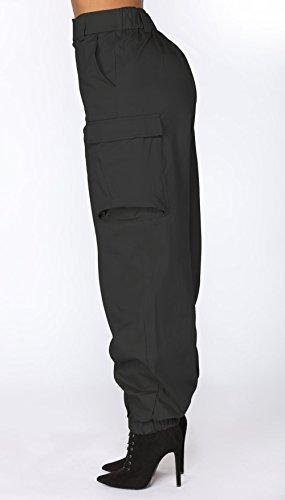 Lungo Nero Moda Donna Gavemenget Pantaloni a Vita Alta con Trousers Alpinismo Tasca Sciolto Pants qaBxzU