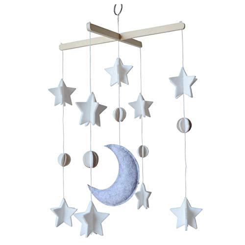 - Baby Crib Mobile by Sorrel & Fern- Moon, Stars & Planets Nursery Decor | Crib Mobile