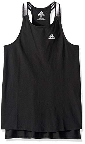 adidas Girls' Big Active Tank Tops, Black, XL (14/16)