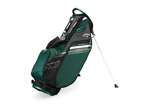 Callaway Golf 2019 Hyper Lite 3 Stand Bag, Green/Black/White, Single Strap