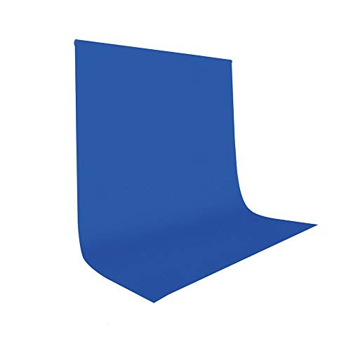 UTEBIT Blue Backdrop Sheet 5x7ft/1.5x2m for Pictures Polyester Photo Booth Background Wrinkle Resistant Backdrops Compatible for Portrait Photo Studio Live Broadcast Video Shooting (Stand Not Include)