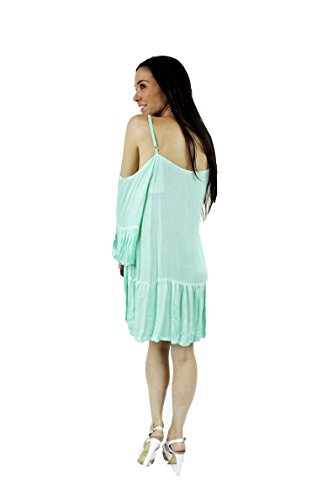 Diseña - Camiseta elegante estilo recto Verde Aqua
