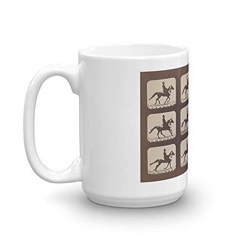 Horse Galloping: Eadweard Muybridge, 1879. 15 Oz Ceramic Glossy Gift For Coffee Lovers Quote Mug Gifts For Men & Women