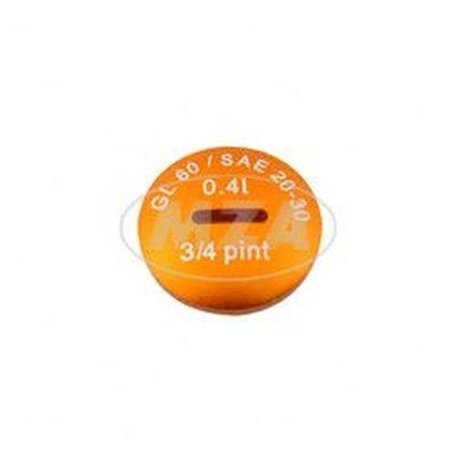 - S51,S53,S70,SR50,SR80,KR51//2 Verschlu/ßschraube /Öleinf/üll/öffnung Alu orange eloxiert - - ohne O-Ring MZA-10223