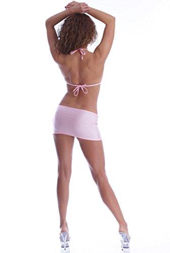 jupe Rose Annsfashion Strass Top Pâle De Coloré Boucle Avec Mini SBBvx8qE