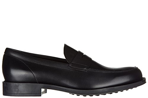 tods-mens-leather-loafers-moccasins-rubber-classico-black-us-size-10-xxm0ud00640d90b999
