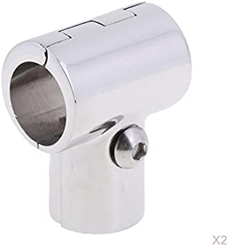Hand Rail Fitting,316 Stainless Steel Round Base H60 Degree Hand Rail Fitting Pipe Boats Accessories for 22MM 7//8in Pipe