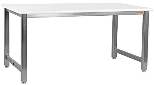 BenchPro KSDCR3672 Kennedy Workbench with Stainless Steel Frame and Cleanroom Lisstat Esd Laminate Top by BenchPro