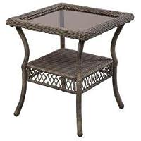 Hampton Bay Spring Haven Grey Patio Side Table