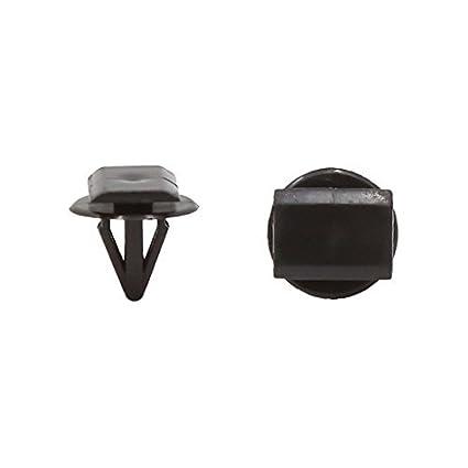 eDealMax 50pcs DE 8 mm de agujeros Universal de plástico remache auto del coche de parachoques