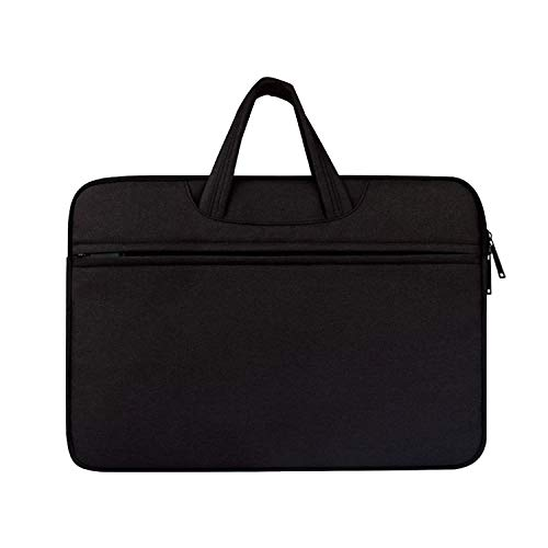 Brand Men Briefcase 12-15.6 Inch Laptop Bags Male Simple Office Business Handbag Multi-Function Notebook Computer Bag,Black ()