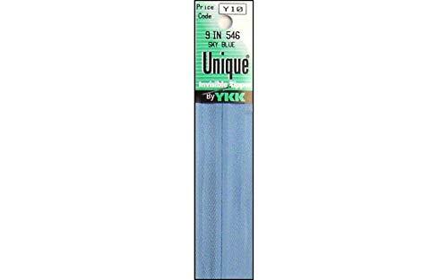 "YKK Unique Invisible Zipper, 9"", Sky Blue"