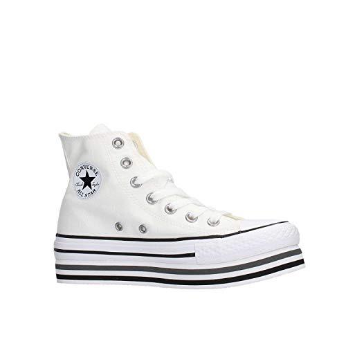 Ctas Zapatos 564486c Platform Mujer Blanco Layer Hi Deportivos rwrCxa