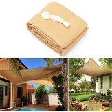 Sunlight Voyage Tint - 3x3m 280gsm Hdpe Shade Sail Cloth Canopy Outdoor Patio Square Rectangle Awning Shelter - Sunshine Cruise Shadow Shadiness Shadowiness Sunbathe Navigate - 1PCs